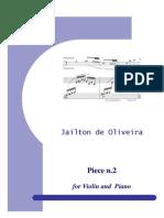 Piece No.2 for Violin and Piano - Violin Part