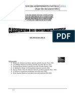 Classification Des Edentements Partielles2012