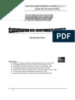 Classification Des Edentements Partielles2012