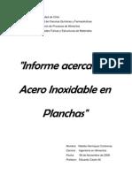 Informe Investigacion_acero Inoxidable en Planchas