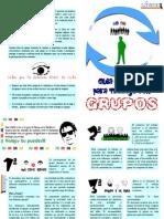 Diptico Para Trabajo Con Grupos