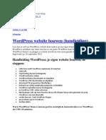 Wat is Wordpress Handleiding - Hoe Website Maken - Goede Thema en Plugins Kiezen - Gerben G Van Dijk