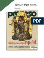 La Guadalupana, de origen español.Revista Proceso