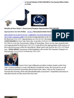 Penn State Subsidy 2012