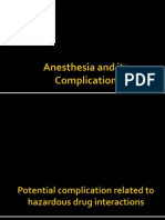 Anesthesia and Its Complication