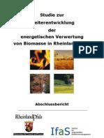 Studie Zur Weiterentwicklung Der Energetischen Verwertung Von Biomasse in Rheinland-Pfalz