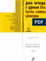 Ortega y Gasset, José, Historia como sistema