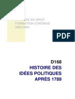 Histoire Des Idees Politiques 1789 a Nos Jours