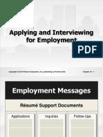 Employment & Interviewing for Jobs