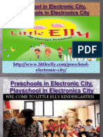 Preschool in Electronic City, Playschools in Electronics - Littleelly