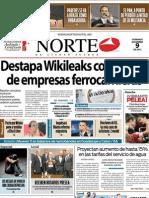 Periodico Norte de Ciudad Juárez 9 de Diciembre de 2012