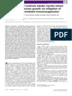 Oral Ingestion of Lentinula Edodes Mycelia Extract Inhibits B16 Melanoma Growth via Mitigation of Regulatory T Cell-mediated Immunosuppression