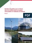 Solution pour la Suisse dans les conflits utilisation des énergies renouvelables et aménagement du territoire