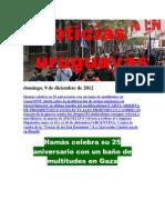 Noticias Uruguayas Domingo 9 de Diciembre Del 2012