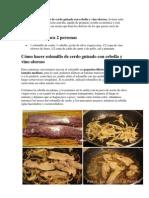 Esta Receta de Solomillo de Cerdo Guisado Con Cebolla y Vino Oloroso