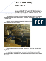 Huddersfield Jazz Guitar Society September 2012 Newsletter