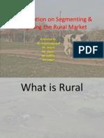 Presentation on Segmenting & Targeting the Rural Market