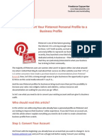 How to Convert Your Pinterest Personal Profile to a Business Profile