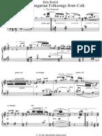 Bartok Hungarian Folksongs