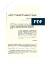 Manuel Gutiérrez Nájera y la crónica como género de transición o la confluencia del periodismo y la literatura