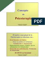 02.a Concepto de Psicoterapia