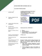 Mandatory Discl 2011 12