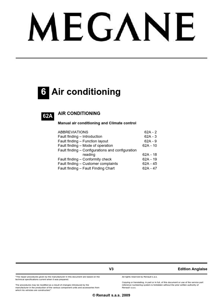 Megane Aircondition Air Conditioning Hvac Renault Engine Cooling Diagram