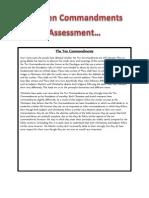 The Ten Commandments Assessment