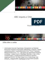 ABC Importu z Chin Primer