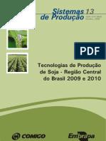 Tecnologia de produção de soja 2009