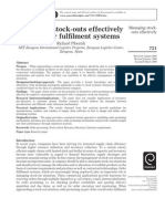 Pibernik, R., 2006. Managing Stock Outs Effectively With Order Fullfilment Systems