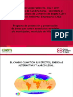 Cambio climático y energias alternativas