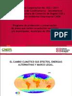 Cambio climático y energias alternativas