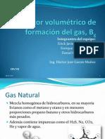 Factor volumétrico de formación del gas, Bg