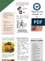 triptico Alimentación en  Dislipidemia