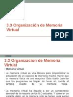 3.3Organización de Memoria Virtual