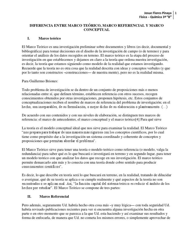Marco Conceptaul , Refernecial, Teorico