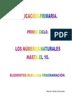 LOS NÚMEROS NATURALES HASTA EL 10. Elementos para la programación.