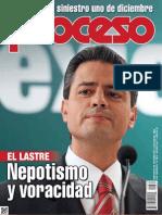 PROCESO-NÚMERO 1884-FORMATO REVISTA-09-12-2012-EL SELLO DEL PEÑISMO LASTRE NEPOTISMO VORACIDAD.