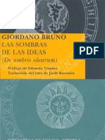 Bruno, Giordano Las Sombras de Las Ideas