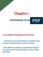 Chapitre 1 Physique Generale Cinematique