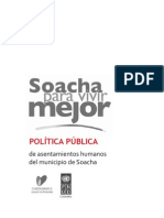 Política Pública de Asentamientos Humanos Soacha