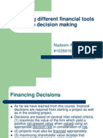 Applying Different Financial Tools in Decision Making(2)