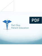 part one-patient education