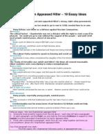 Appeasement Essay Assignment