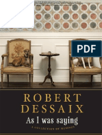 Author Q&A with Robert Dessaix, author of AS I WAS SAYING