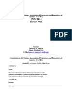 Constitution of the National Association of Contractors and Remodelers of America (NACRA)