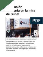 La evasión tributaria en la mira de Sunat