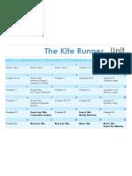 The Kite Runner Unit Calendar
