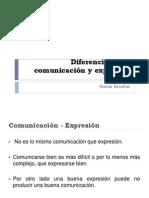 3. Diferencia entre comunicación y expresión. ICC